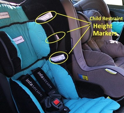 car seat should height markers